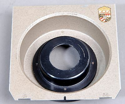 Genuine Early Grey Linhof Technika Recessed Lens Board cut #00