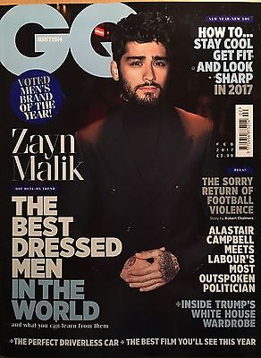 GQ Magazine British March 2016 One Direction Zayn Malik Ryan Gosling David Bowie