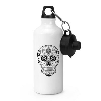 Black Sugar Skull Sports Drinks Water Bottle - Candy Skull