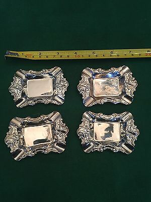 4 Baroque Silverplate by Wallace - Ashtray or Butter Pat Dish #733