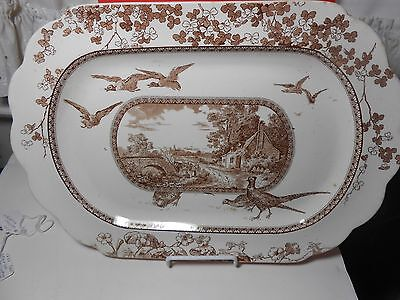 "Brownfield & Son Vintage ""woodland Platter"" Outstanding Look Wow"