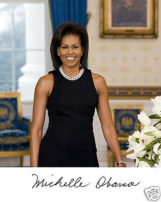 Michelle Obama First Lady Autograph 11 x 14 Photo Photograph Poster Picture