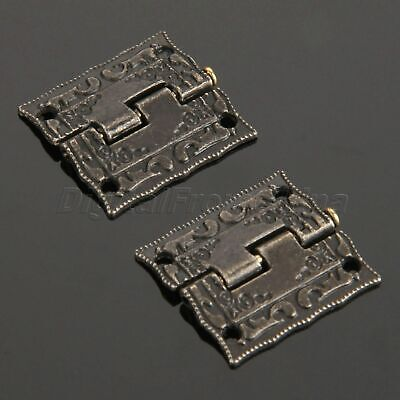 270° Alloy Hinges Vintage Printing Cabinet Door Case Box Decor Hardware 4-20PCS