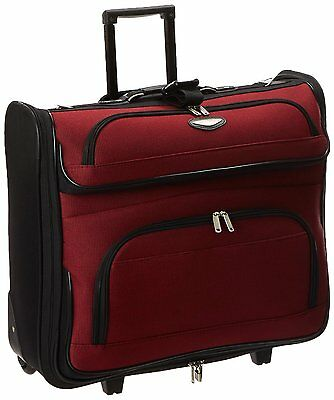 Folding Garment Bag Luggage Carry On Suitcase Travel Wheels Clothing Suits New