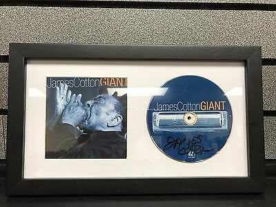James Cotton-Giant | Signed Disc In Frame | Collectible | Ships Priority