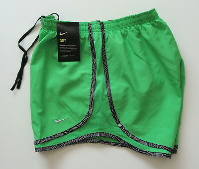 NWT Nike Womens DRI-FIT Tempo Running Shorts Size XS Green 624278