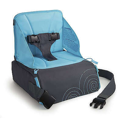 Child Travel Booster Seat Durable Bottles Diapers Storage No-Slip Portable Blue