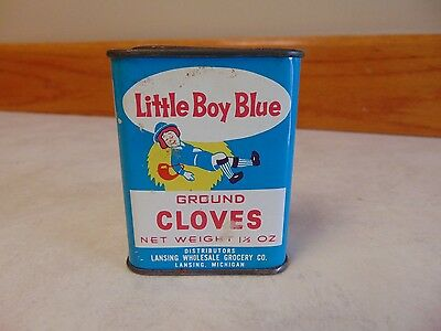 Vintage LITTLE BOY BLUE - GROUND CLOVES Spice Tin