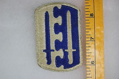 US WW2 Army Cut Edge Snowy Back 2nd Airborne Infantry Brigade Patch. OA130