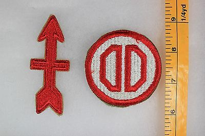 US WW2 Army Cut Edge Snowy Back 31st & 32nd Infantry Division 2 Patch Lot OA143