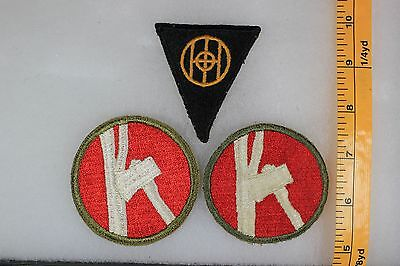 US WW2 Army Cut Edge Snowy 83rd & 84th Infantry Division 3 Patch Lot OA161