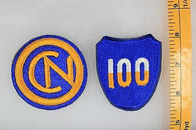 US WW2 Army Cut Edge Snowy 100th & 102nd Infantry Division 2 Patch Lot OA171