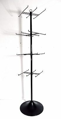"""AYS Retail 4 Tier 24 Prong Product Floor Spinner Display Rack 60"""" Tall V.Stable"""