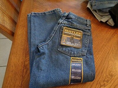 Boys Rustler Hard Playing Relaxed Jeans Size 8  Regular fit NWT $22