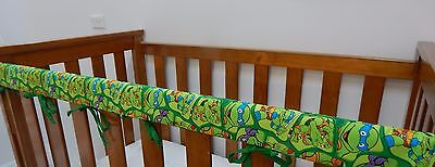 Baby Crib Teething Pad Cot Rail Cover - Teenage Mutant Ninja Turtles 100% Cotton