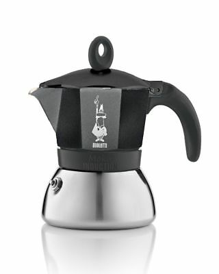 Bialetti Moka - Stove Top Espresso Maker - Induction Suitable - Stainless Steel