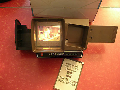 Vintage Gaf Pana-Vue Automatic Lighted 2 X 2 Slide Viewer