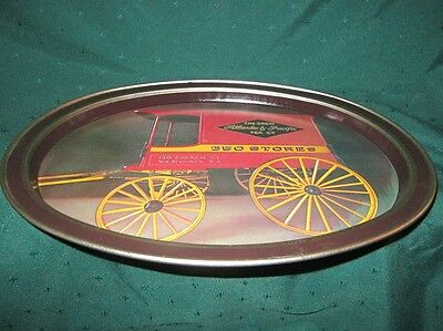A & P Grocery Advertising Oval Metal Serving Tray~VG~