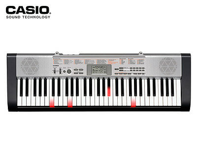 Casio LK130 Key Lightning Keyboard w/ Adapter - Black/Grey
