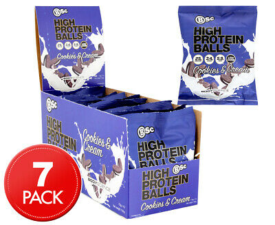 8 x BSc High Protein Balls Cookies & Cream 70g