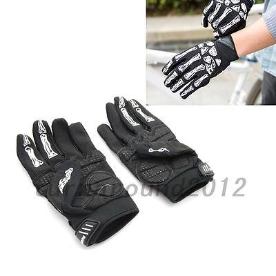 Skeleton Pattern Full Finger Gloves for Bicycle Motorcycle Bike Warm Portable