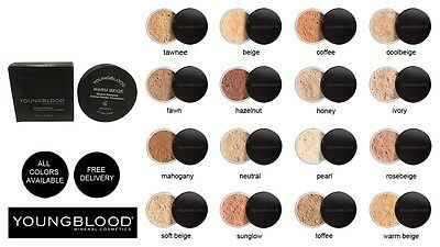 Youngblood Loose Natural Mineral Foundation All colours Australian Free Delivery