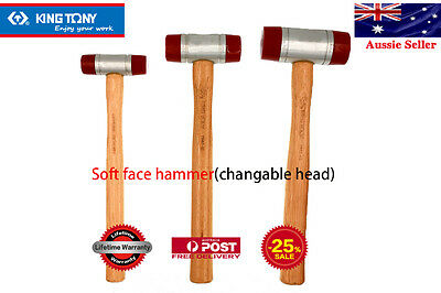 KING TONY 28mm 35mm 45mm Polyurethane Soft Face high quality alloy steel Hammer