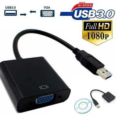 USB 3.0 to VGA External Video Graphic Card Converter Adapter For windows 7/8/10