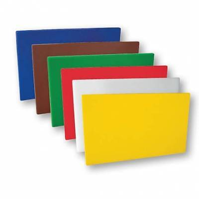 PE Chopping  Cutting Board Set 250x400x12mm Colour Coded x 6