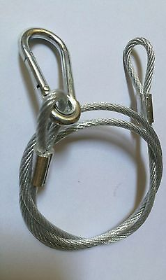 """10pcs/lot 32"""" Safety Rope Security 4mm Diameter Stainless Steel Wire  For Lights"""