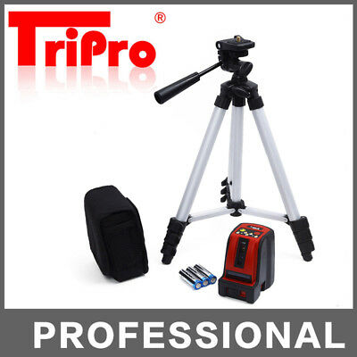 Self Leveling Cross Line Laser Level Rotating Bright Beam Indoor with Tripod