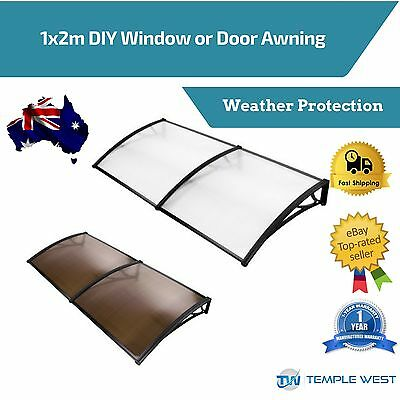 1m x 2m Window Door Canopy Awning Patio Outdoor UV Rain Cover Sunshade Shelter