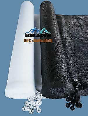 SHANS New Design Shade Cloth 60% UV Block with Clips Free