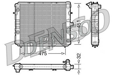 Denso Radiator DRM20075 Replaces 1302034 350213576000