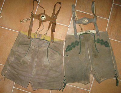 ANCIEN SHORT TYROLIEN, lot de 2
