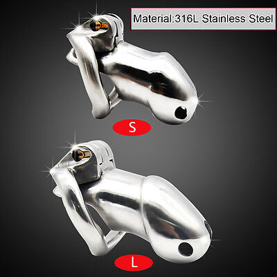 Male 316L stainless steel Luxury Chastity Device Standard/Small