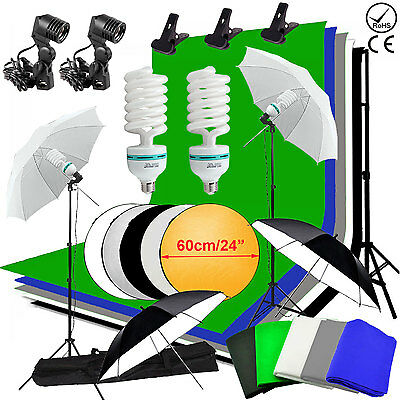 Photographie Photo Studio 1350W Éclairage continu Kit 5 backdrop Parapluie fond