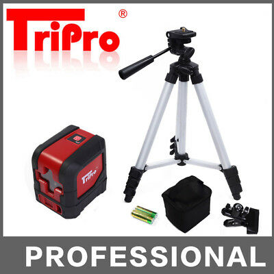 Self Leveling Stand Palm Pocket Cross Line Rotary Laser Level Red Beam + Tripod