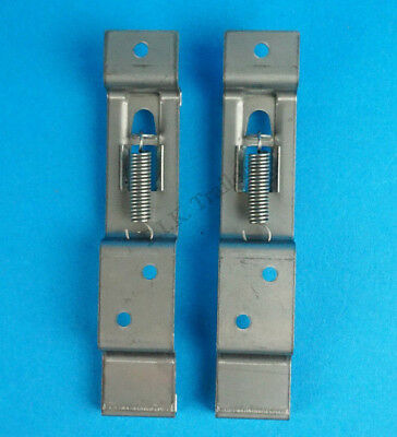 2 x Trailer Number Plate Holder Quick Release Spring Loaded Clips Ifor Williams