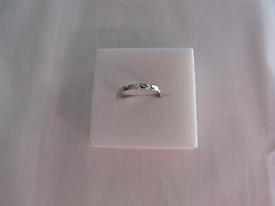 Antique 18ct White Gold Wedding Band Ring