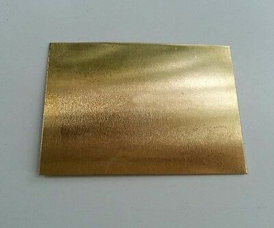 Brass Metal Sheet Plate 0.6mm x 100mm x 100mm