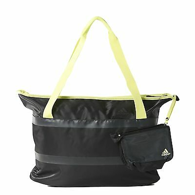 Adidas Women' You Tote Gym Bag Reflective Black/Yellow