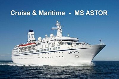 SOUVENIR FRIDGE MAGNET of CRUISE SHIP ASTOR -  CMV