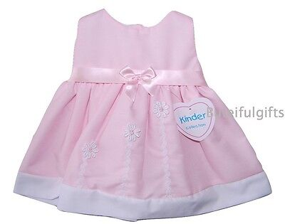 Baby Girls Pretty Traditional Pink Satin Bow Summer Dress 0-18 Months