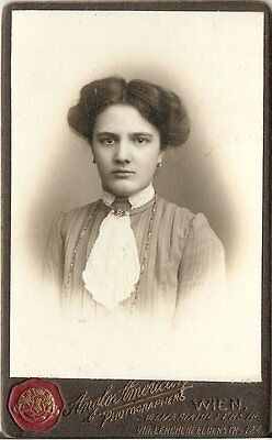 CDV photo Damenportrait - Wien um 1910