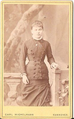 CDV photo Feine Dame - Hannover 1880er
