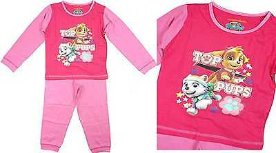PAW PATROL Pink Pjs Pyjamas Sleepwear Childrens Kids Sizes 12 Months - 4 Years
