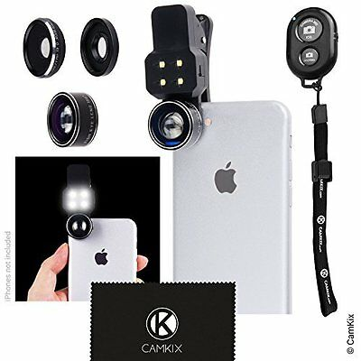 Smartphone Photography Camera Lens LED Flash Light For Most Tablets & Phones NEW