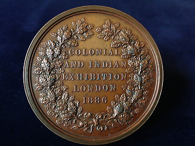 Colonial And Indian Exhibition London 1886 Bronze  Medallion Large