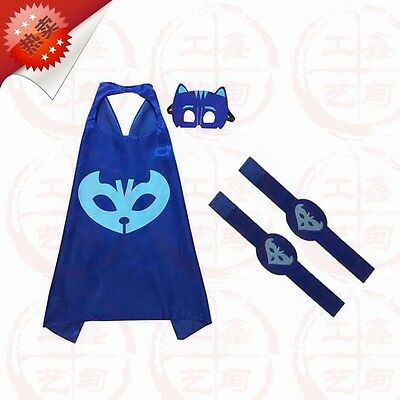 4pcs/set PJ Masks Role-play Cloak and Mask Cosplay Action Toys Owlette Catboy 01
